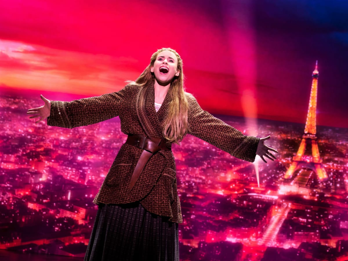 Christy Altomare and Derek Klena in Broadway production of Anastasia