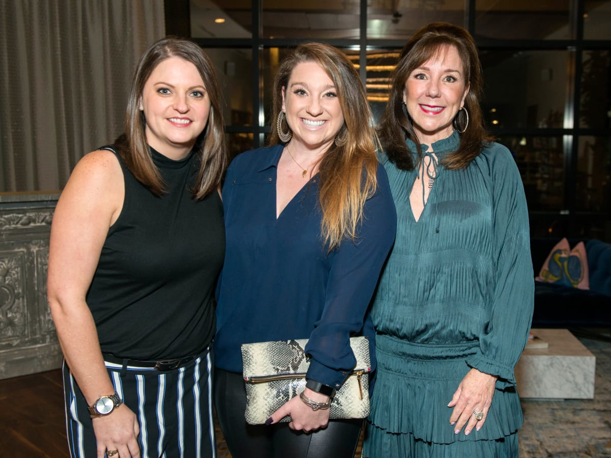 Houston, ZaZa Memorial City grand opening, February 2018, Casey Mitchell, Laura Stein, Elizabeth Stein