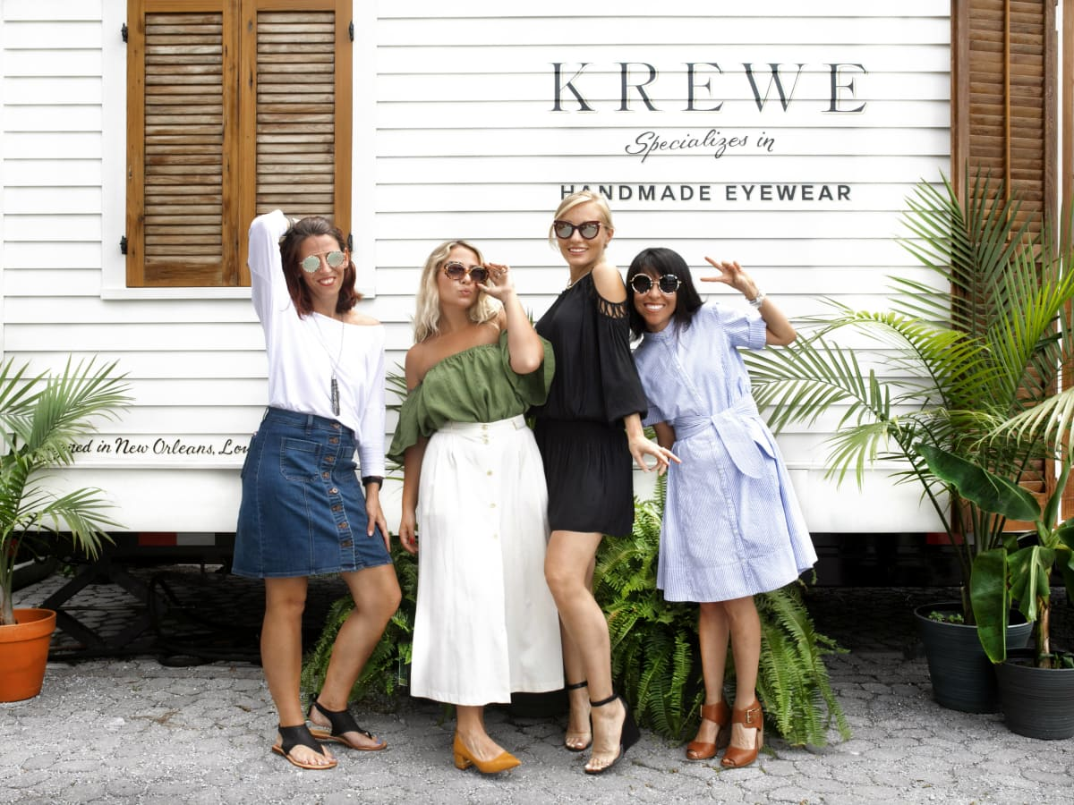 Krewe eyewear models in sunglasses
