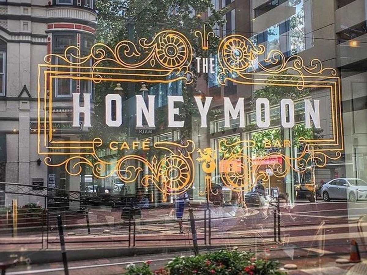 The Honeymoon Cafe exterior window