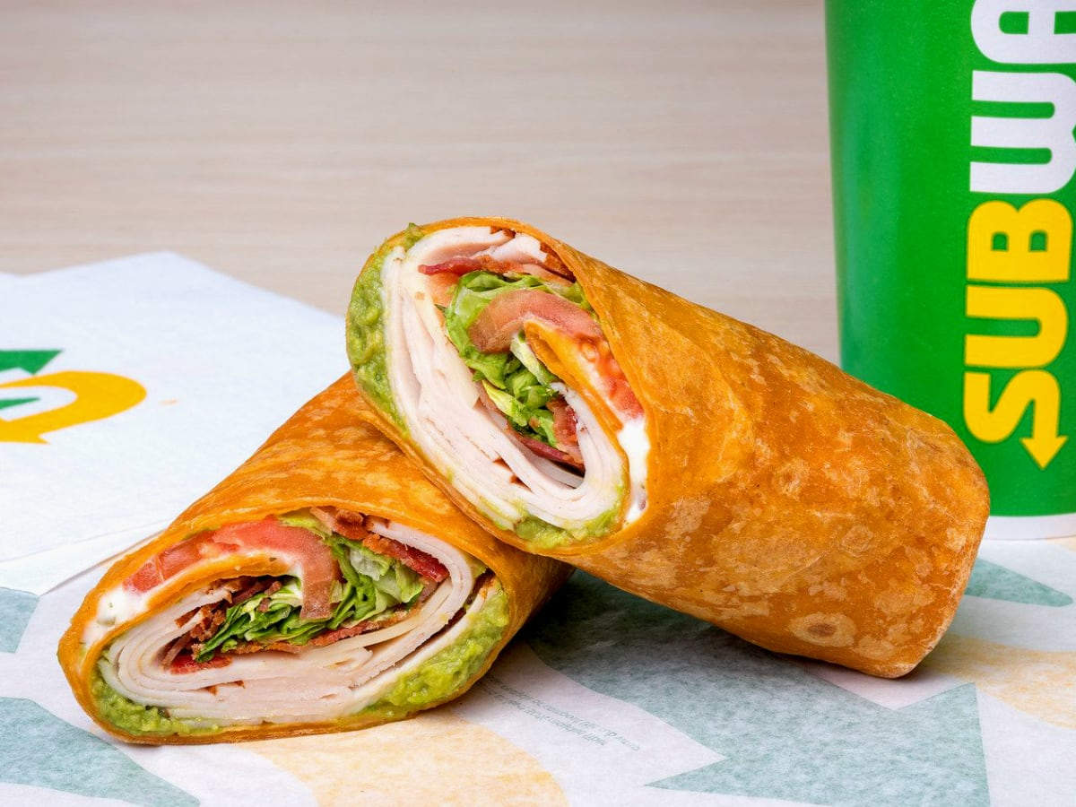 Drive-Thru Gourmet - Subway turkey bacon guacamole wrap
