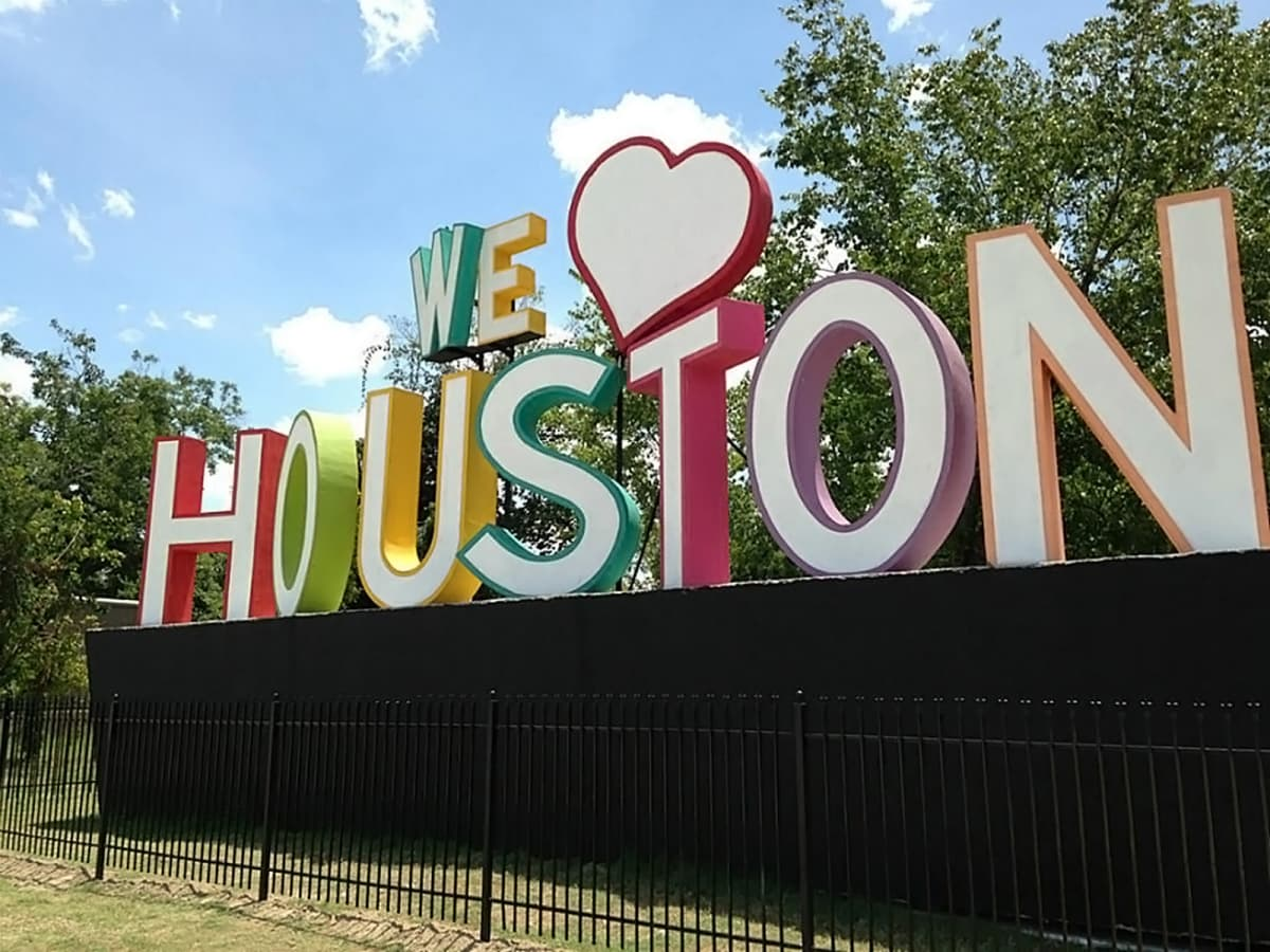We Love Houston sign