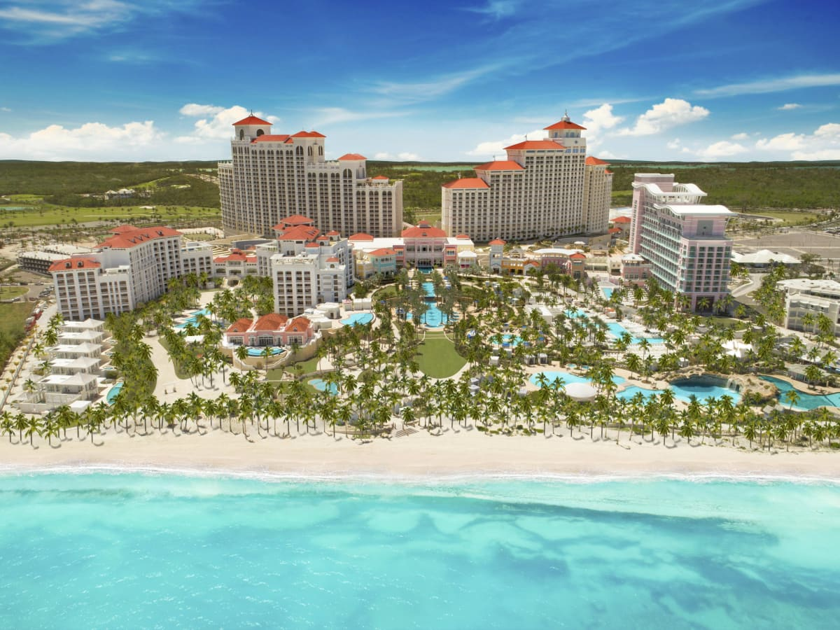 Bahamas Baha Mar arial view