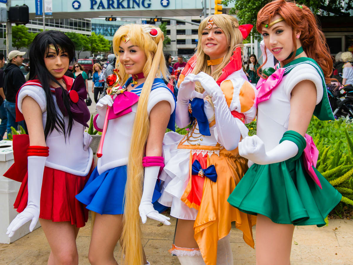 Anime Matsuri girls in Cosplay