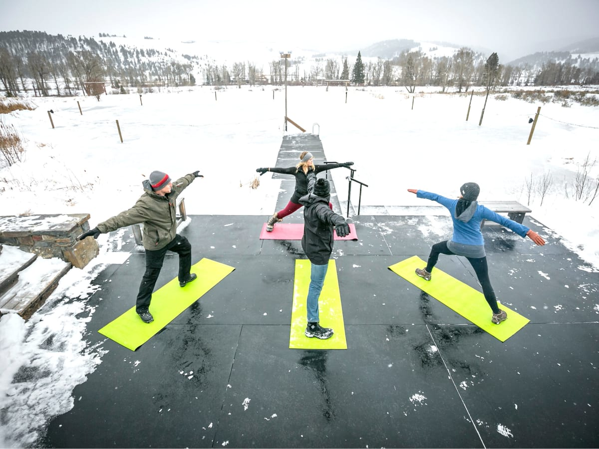 Hoffman - travel - snow yoga- Montana Ranch at Rock Creek
