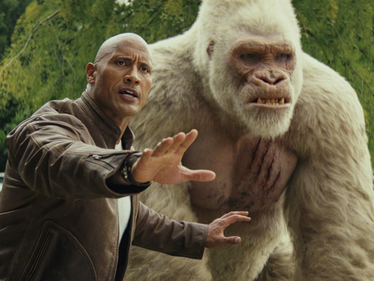 Dwayne Johnson in Rampage