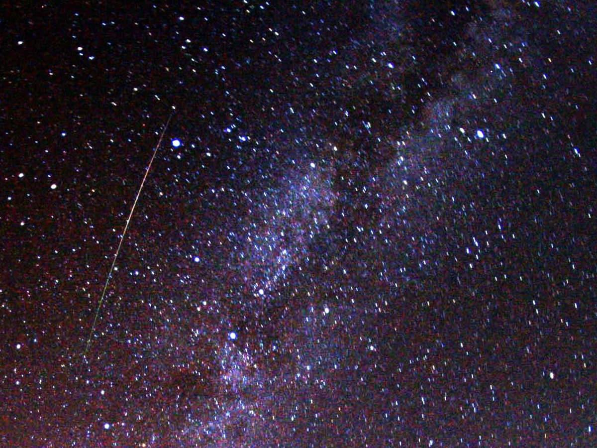 Perseid, meteor, Milky Way, stars, sky
