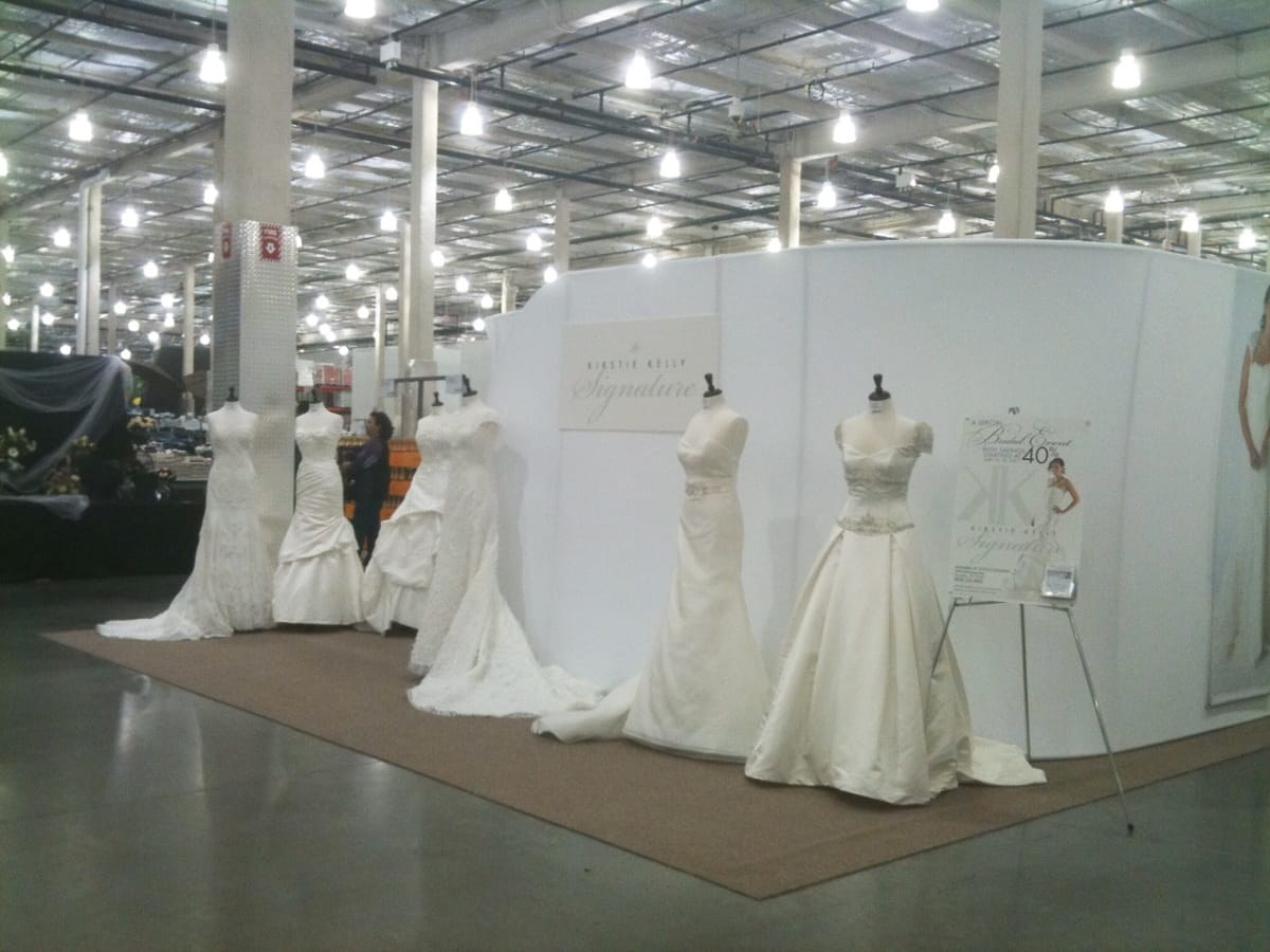 Discount designer wedding dresses hit Costco and the crowd is intri ...