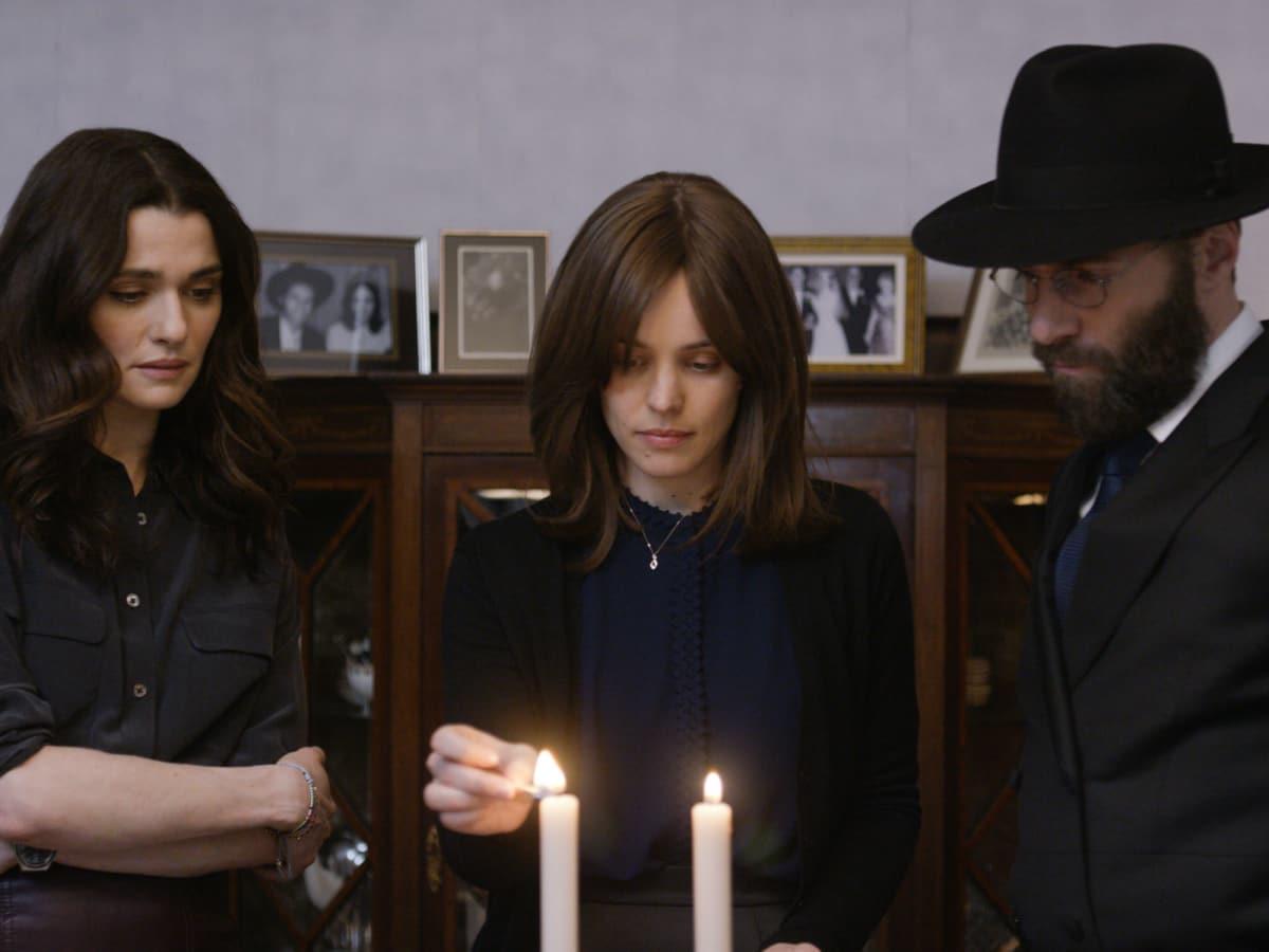 Rachel Weisz, Rachel McAdams, and Alessandro Nivola in Disobedience