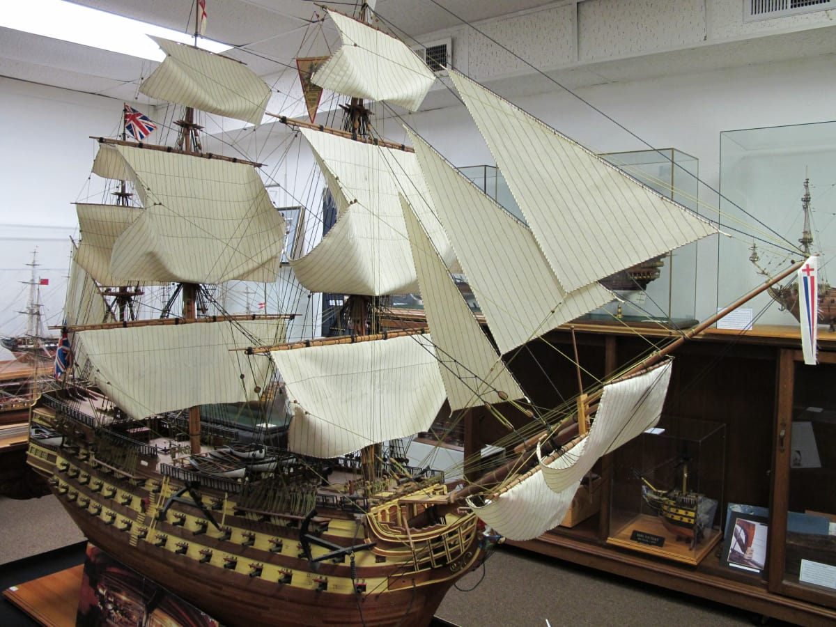 Model of Lord Nelson's ship