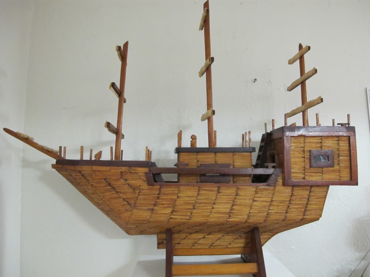 Prison toothpick ship model