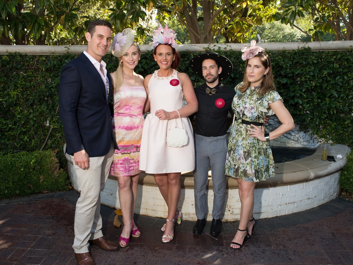 Day at the Races 2018, Adam Roth, Sondra Lynn, Petrushka Dickson, William Ortiz and Elisa Hernandez