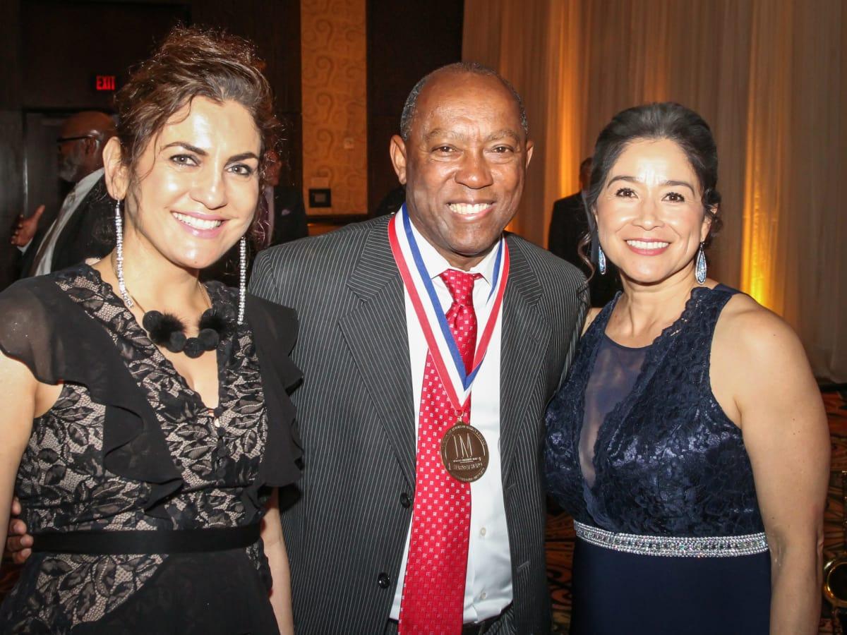 Interfaith Gala Jasmeeta Singh, Mayor Sylvester Turner, Carol Pena