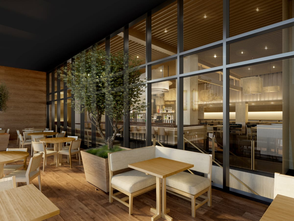 Nobu Houston terrance rendering