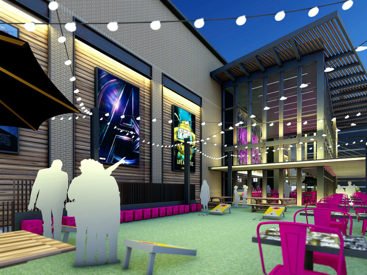 Rendering of Video Vortex at Alamo Drafthouse Frisco