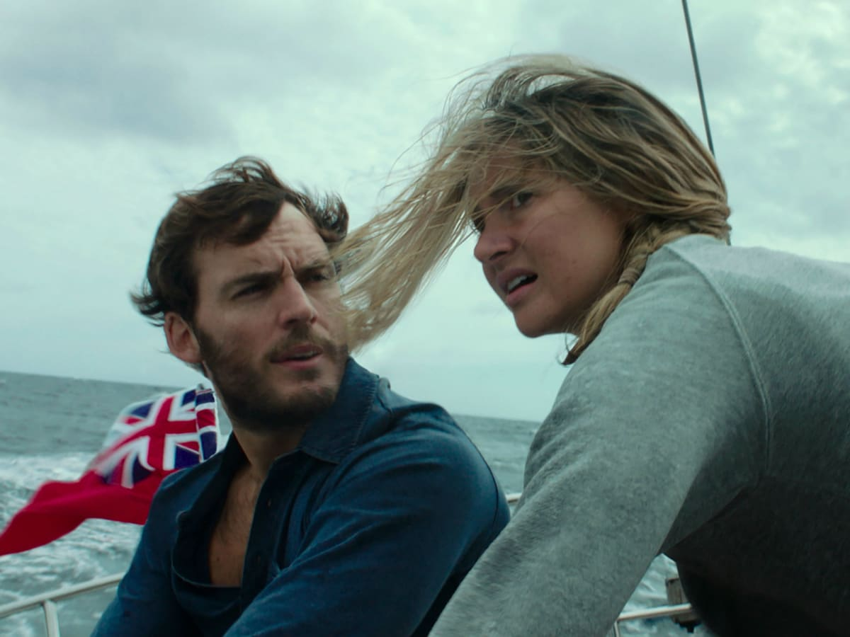 Sam Claflin and Shailene Woodley in Adrift