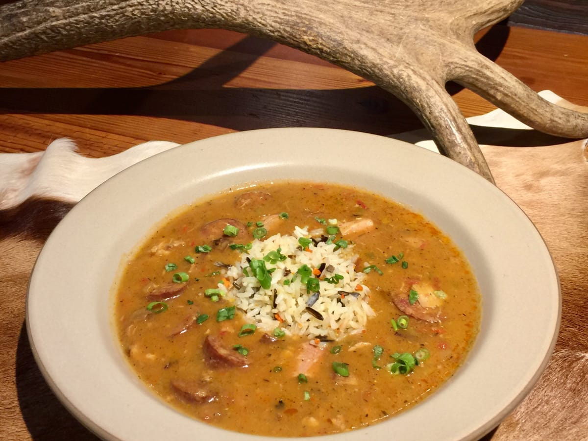 Rainbow Lodge Smoked duck gumbo