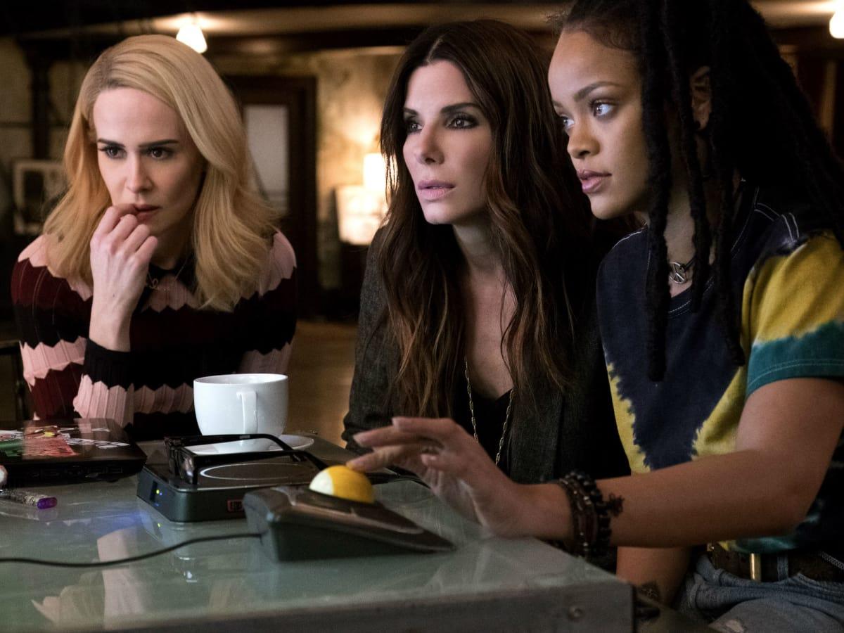 Sarah Paulson, Sandra Bullock, and Rihanna in Ocean's 8