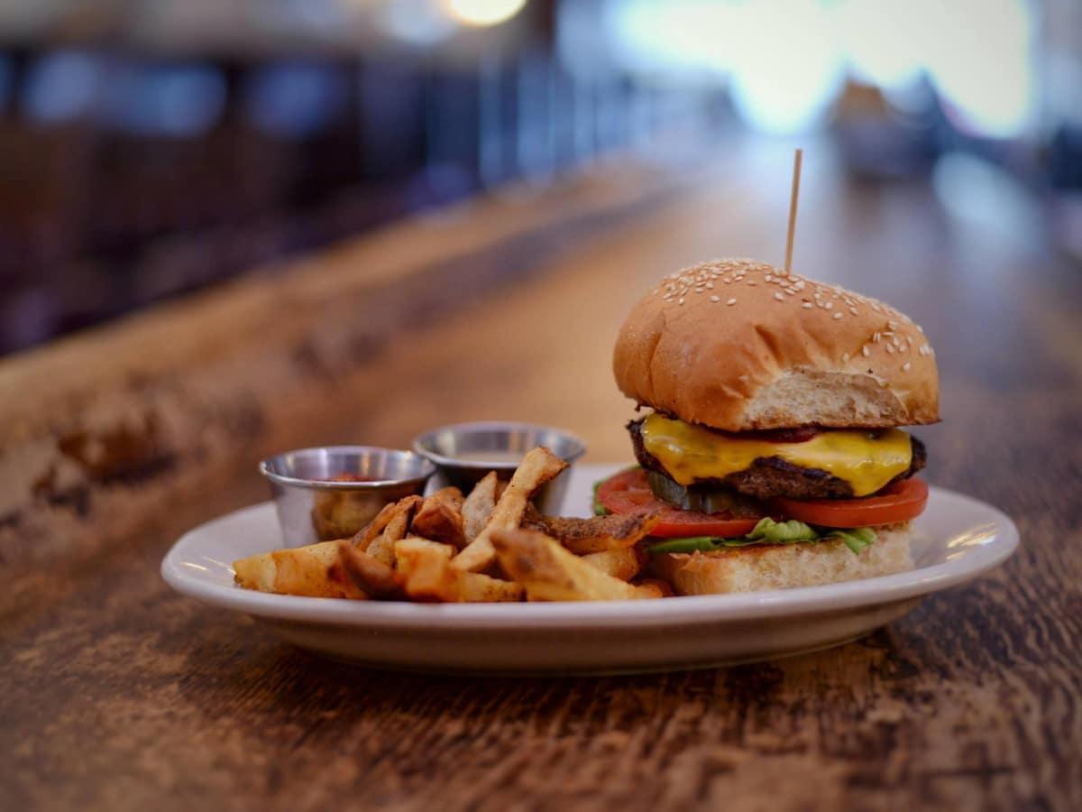 The Esquire Tavern hamburger San Antonio