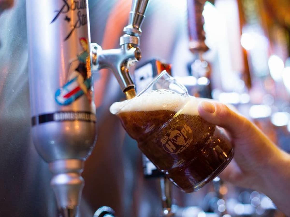 Big Hops brewing beer