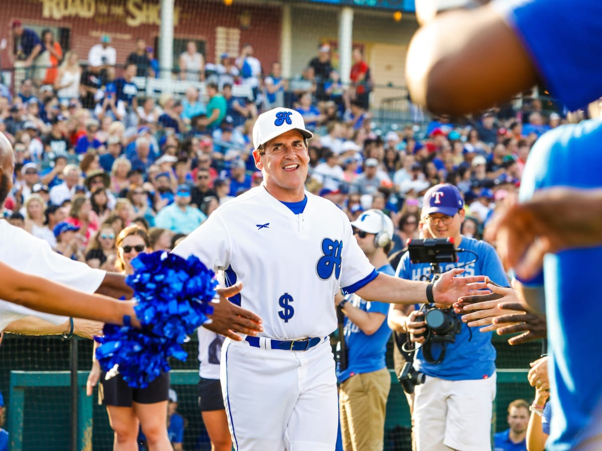 Mark Cuban, Nowitzki celebrity heroes baseball game