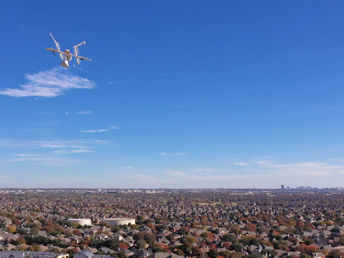 Johnny Steele Dog Park Allen Parkway Houston skyline aerial drone shot