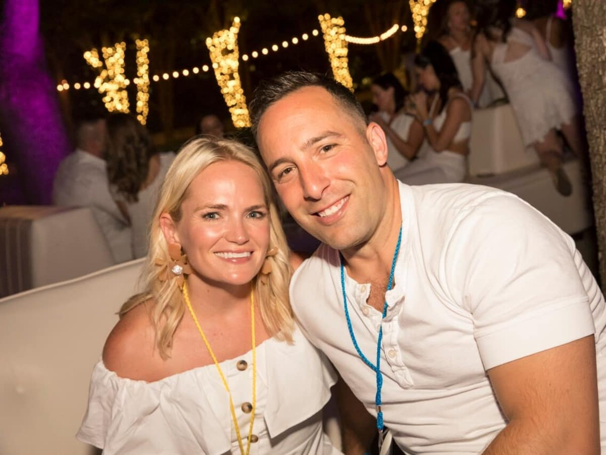 Meridith and Jeremey Zidell, White Party