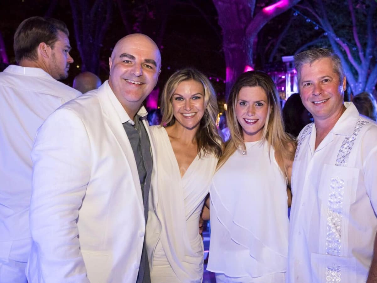 Tommy DeAlano, Krystal DeAlano, Jennifer Guidry, Mike Guidry, White Party 2018