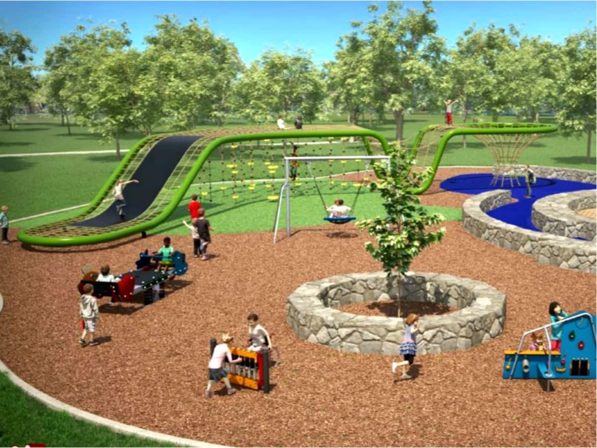 Flag Pole Hill playground