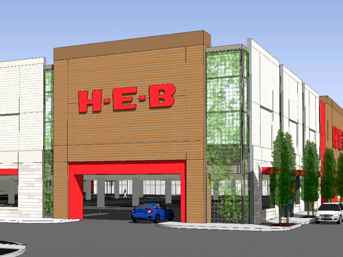 H-E-B rendering Bellaire multi-level two-story