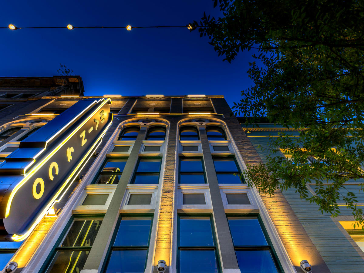 Main&Co building exterior night