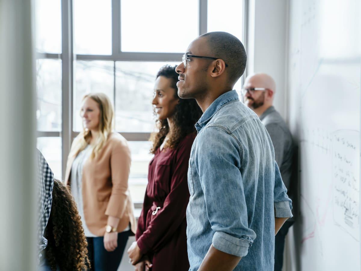 Millennials working in an office