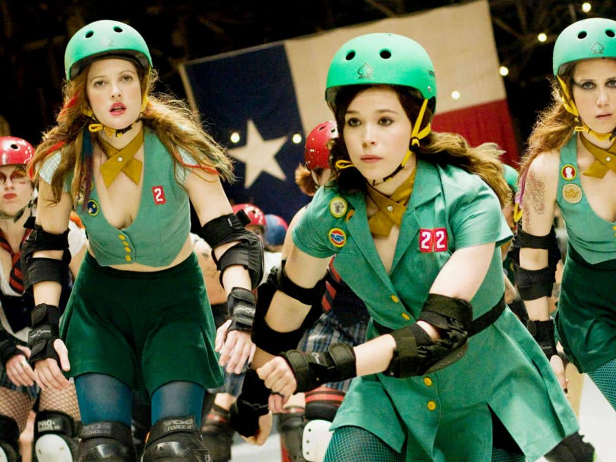 Whip It movie still roller skate Ellen Page Drew Barrymore