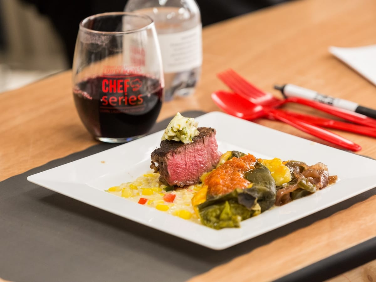 The pan-seared tenderloin filet, Empty Bowls Chefs series