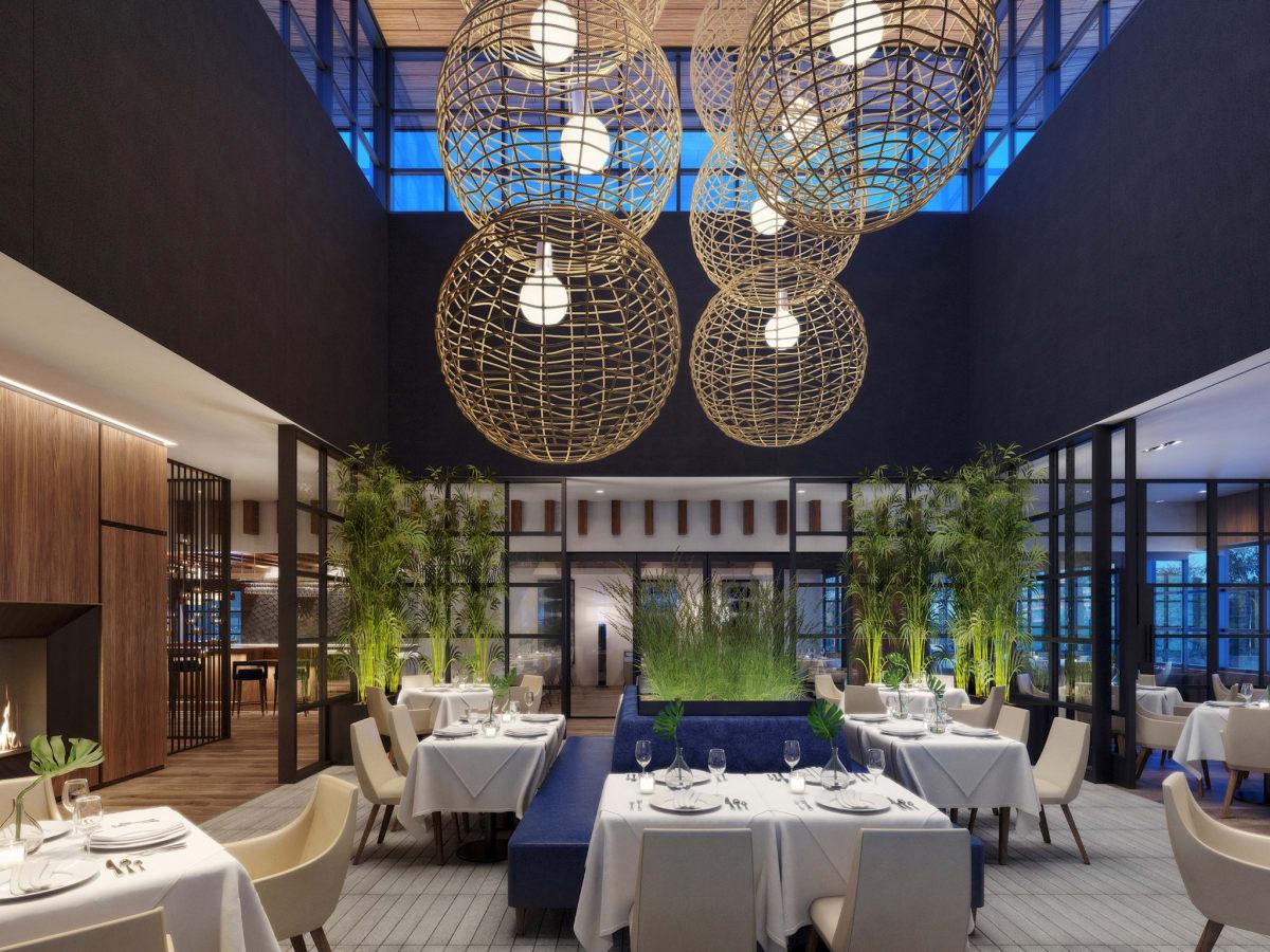 Ocean 48 dining room rendering