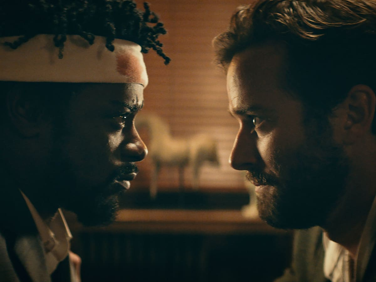 Lakeith Stanfield and Armie Hammer in Sorry to Bother You