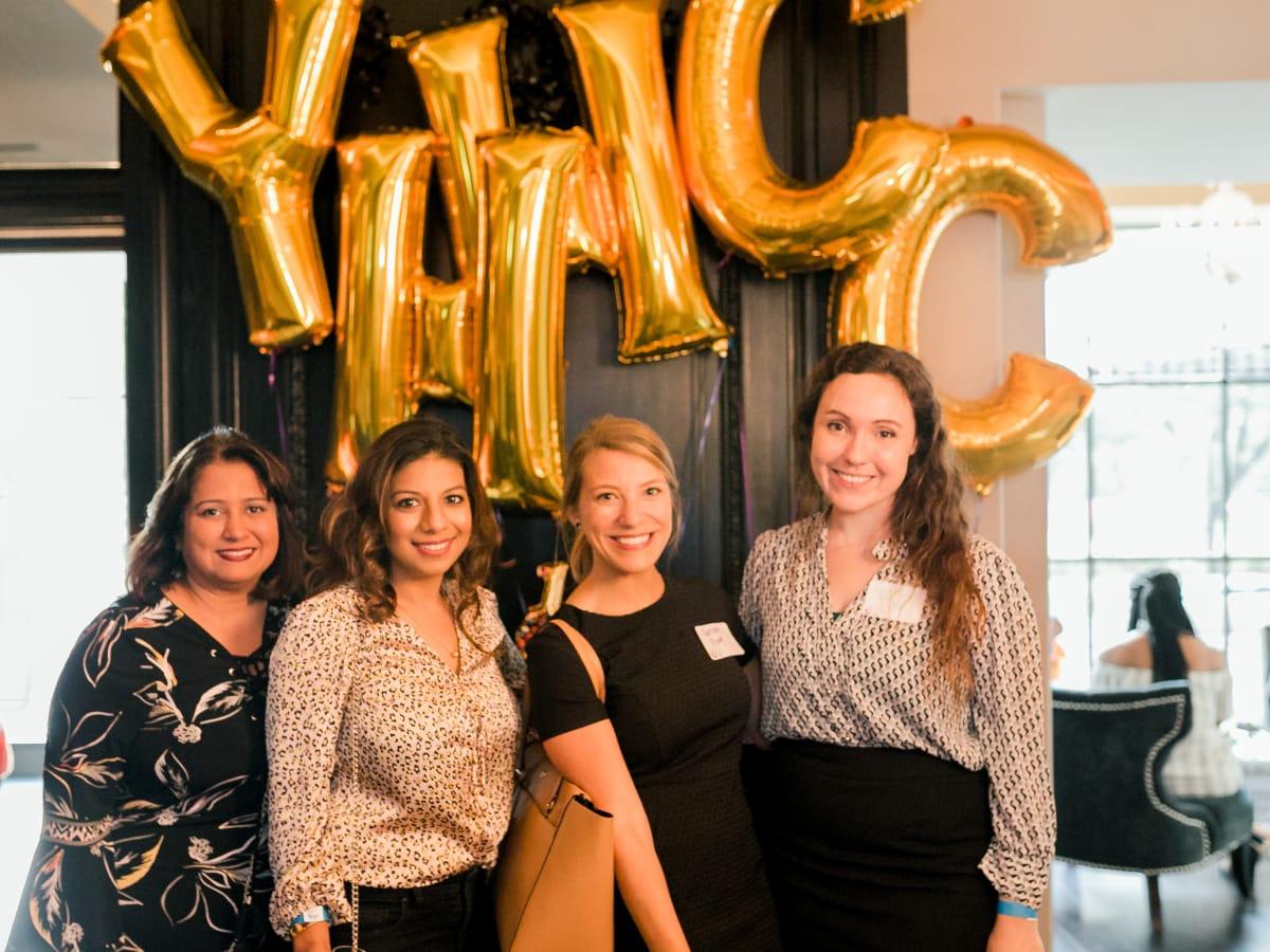 Kaitlyn King, Bina Vachhani, Karishma Asrani, and Leigh Ann H