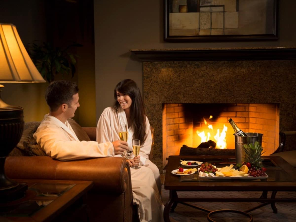 Woodlands Resort couple in spa lounge