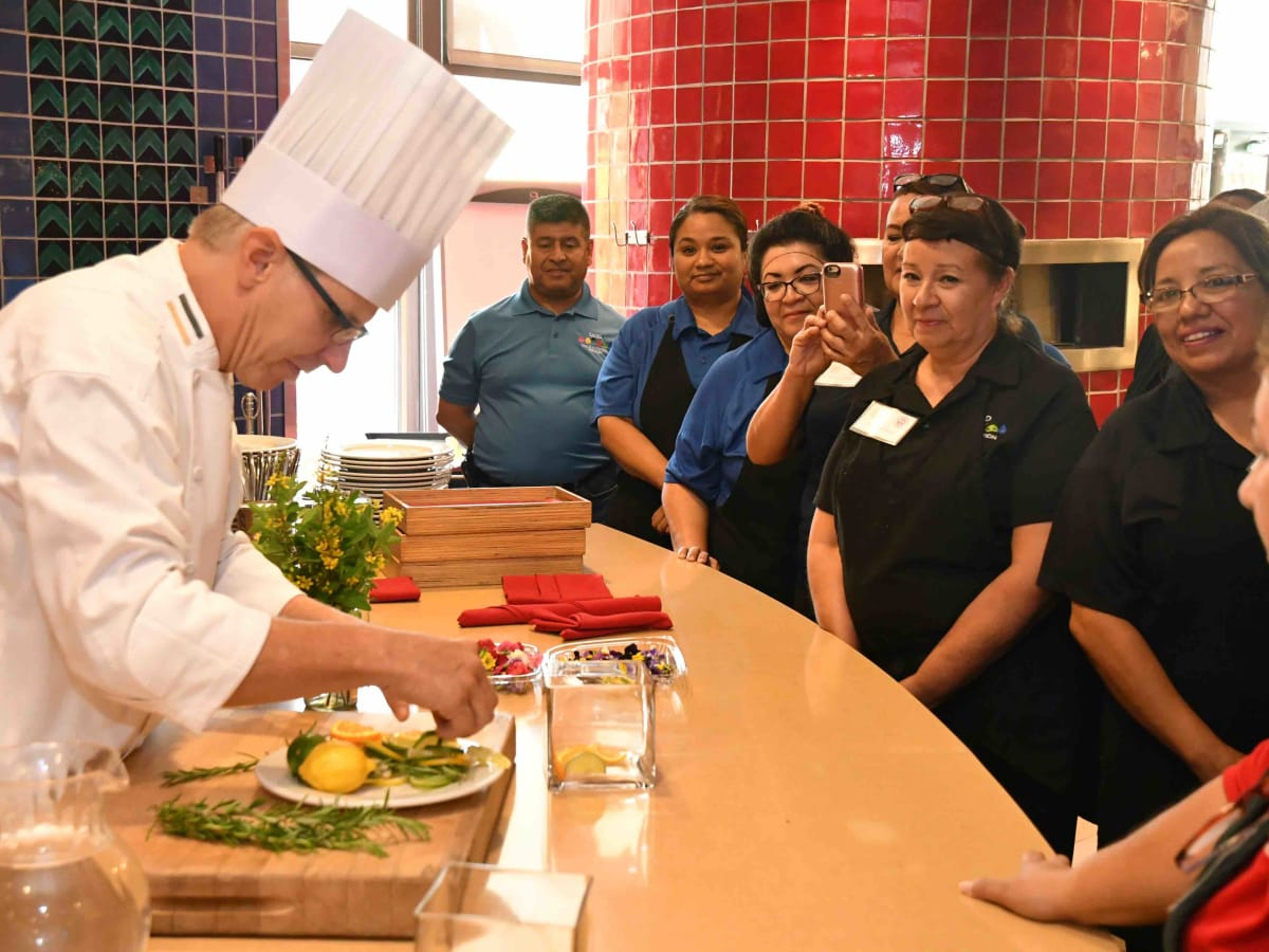 Chef Justin Ward trains San Antonio ISD chefs.