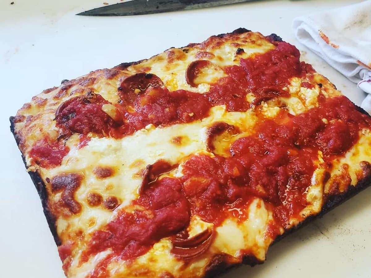Anthony Calleo Detroit-style pizza