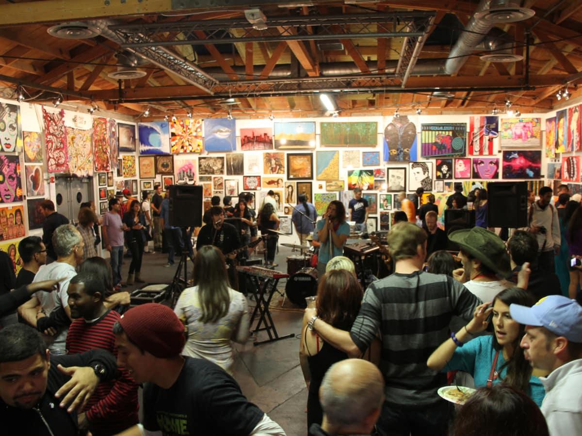 Pancakes & Booze art show Houston