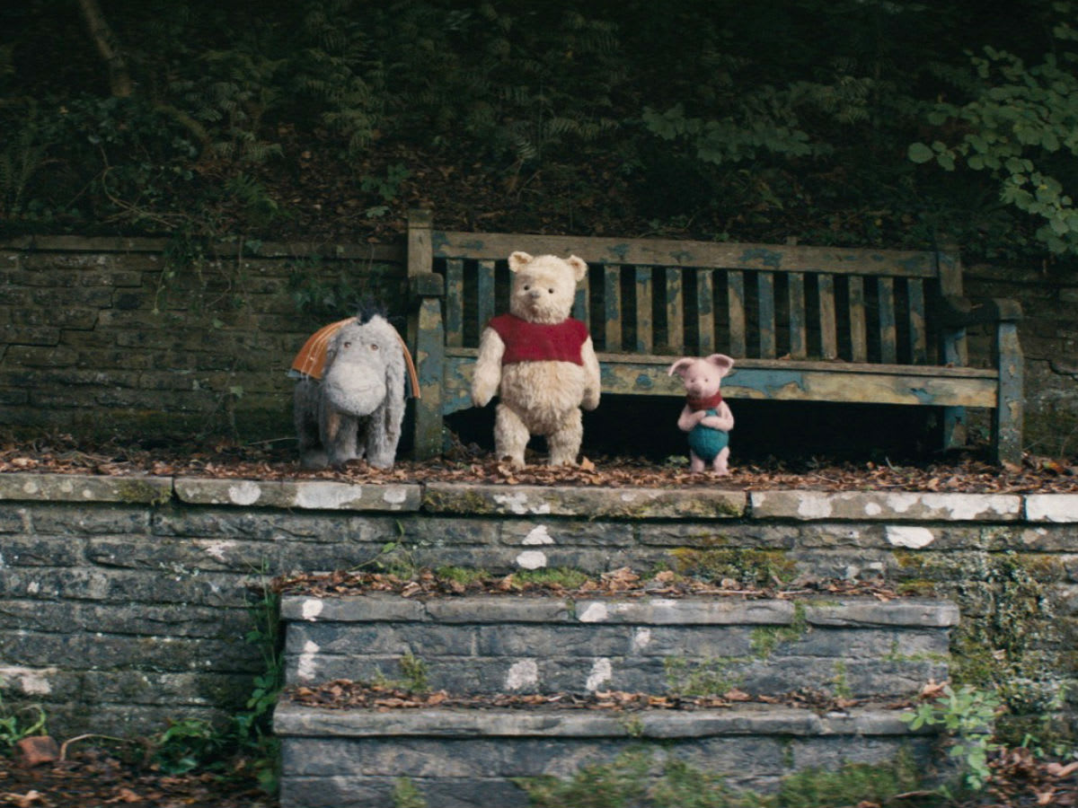 Eeyore, Pooh, and Piglet in Christopher Robin