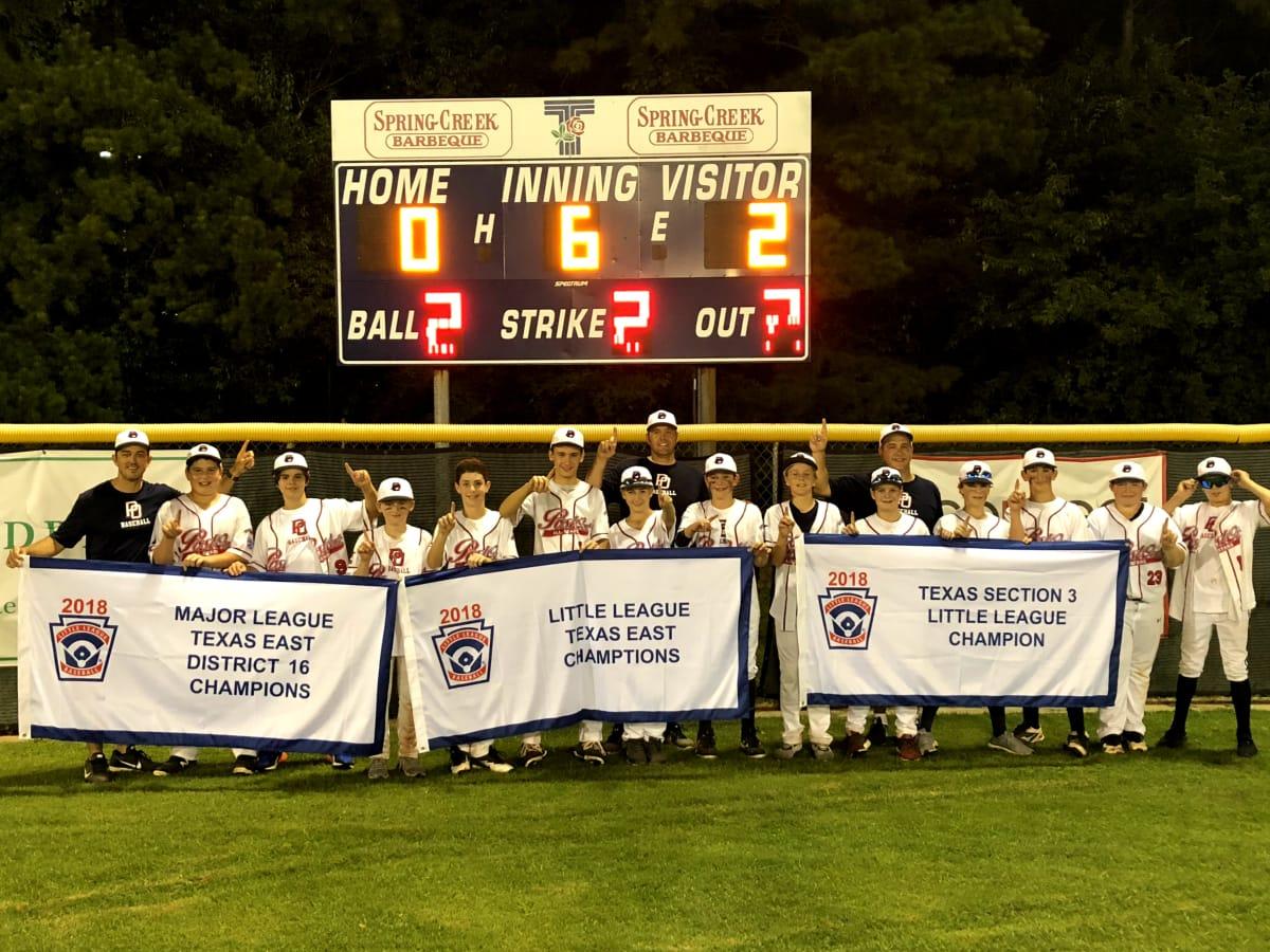 Post Oak Little League team banner