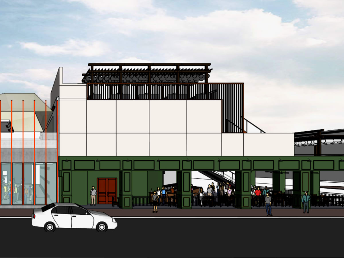 Jack & Ginger's Irish Pub and 77 Degrees Midtown rendering