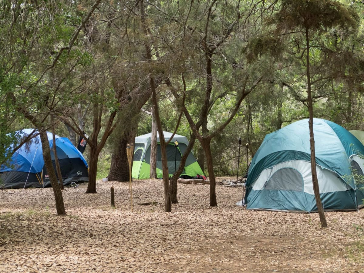 Canyon of the Eagles camping tents Austin campground