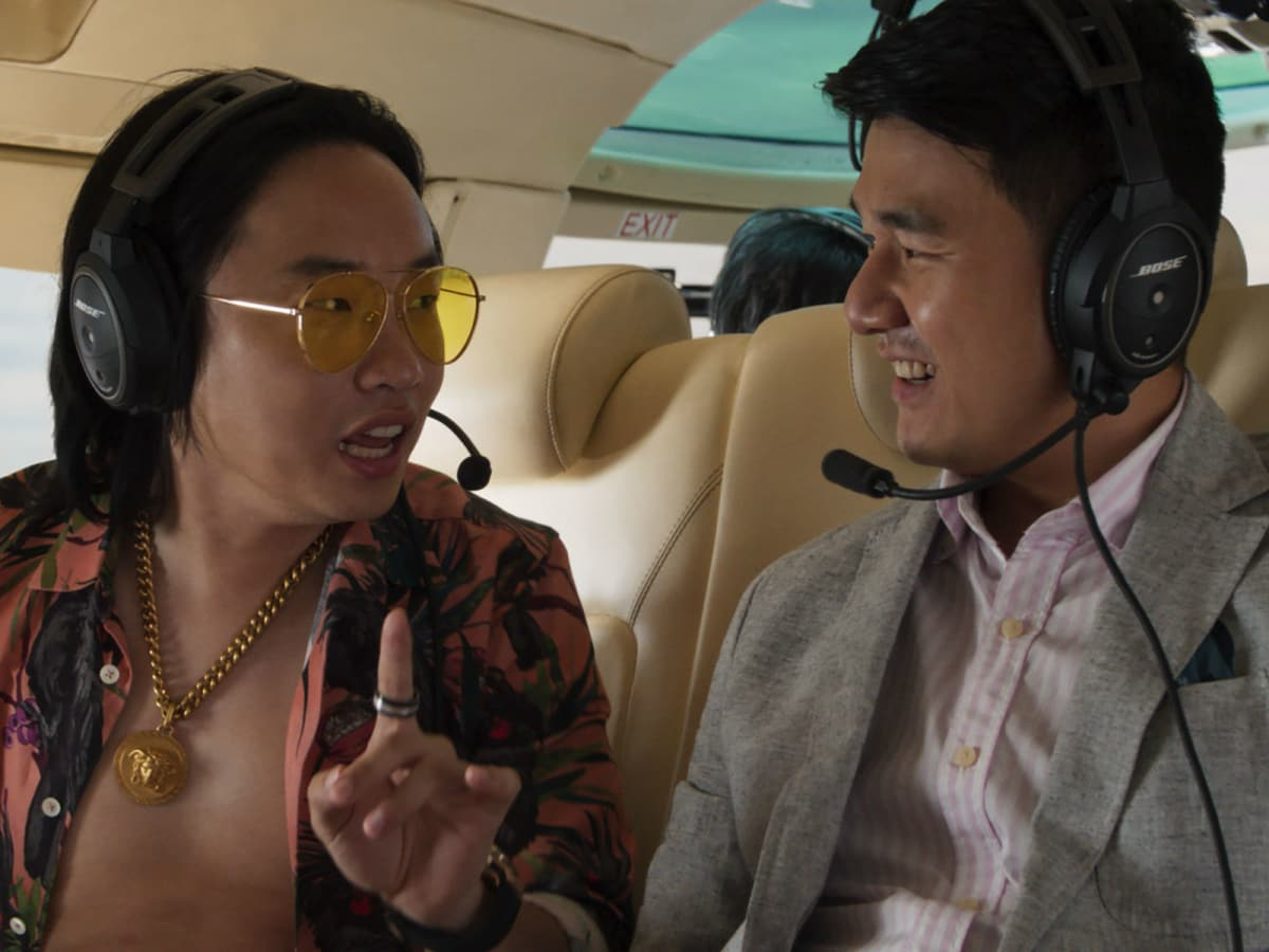 Jimmy O. Yang and Ronny Chieng in Crazy Rich Asians