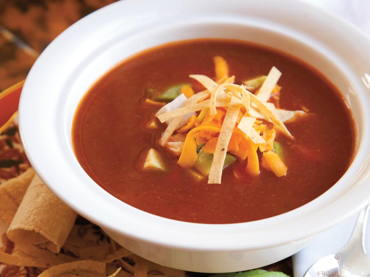 Tortilla soup from Rosewood Mansion on Turtle Creek