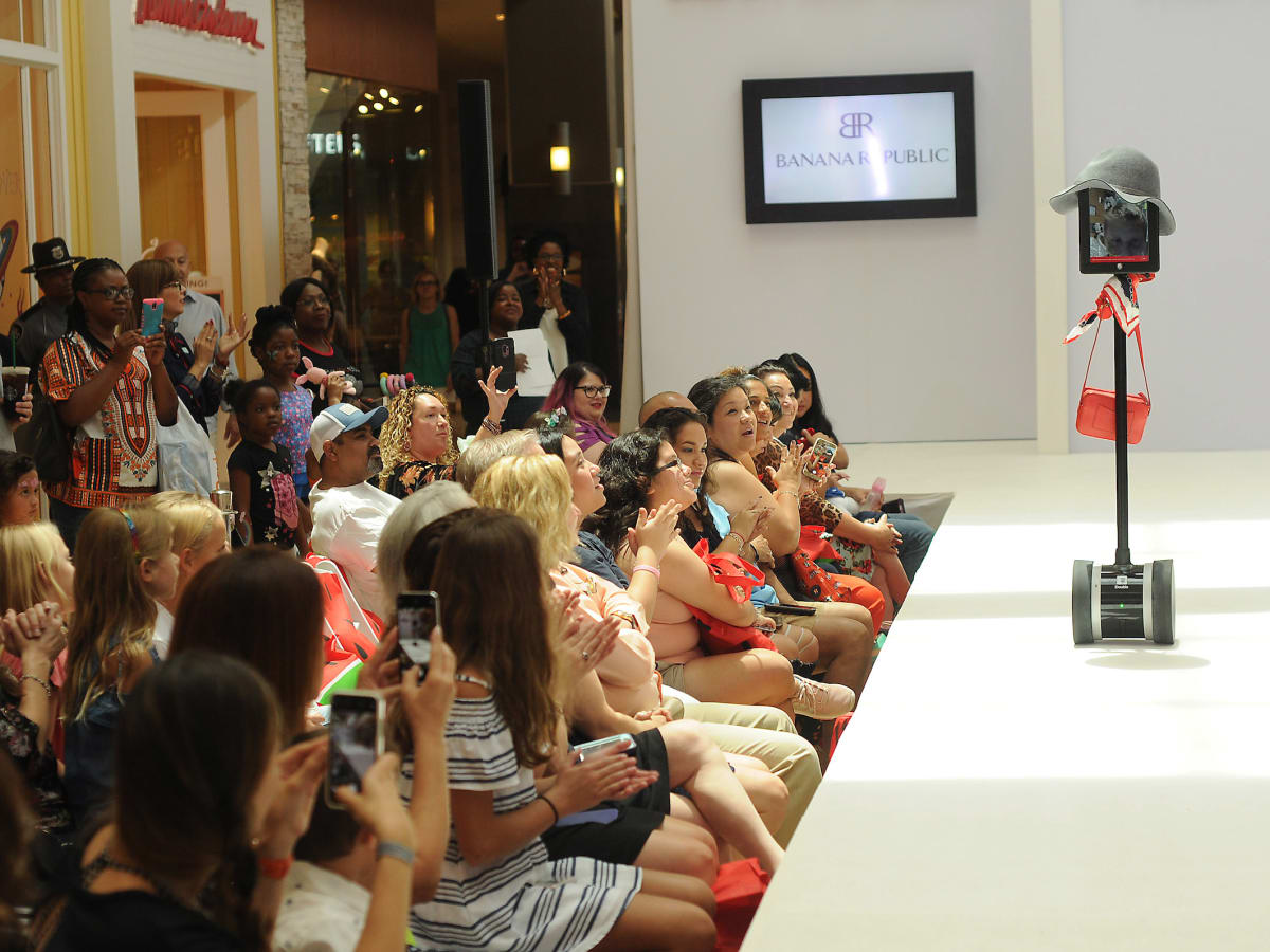 MD Anderson fashion show Kaylyn White robot