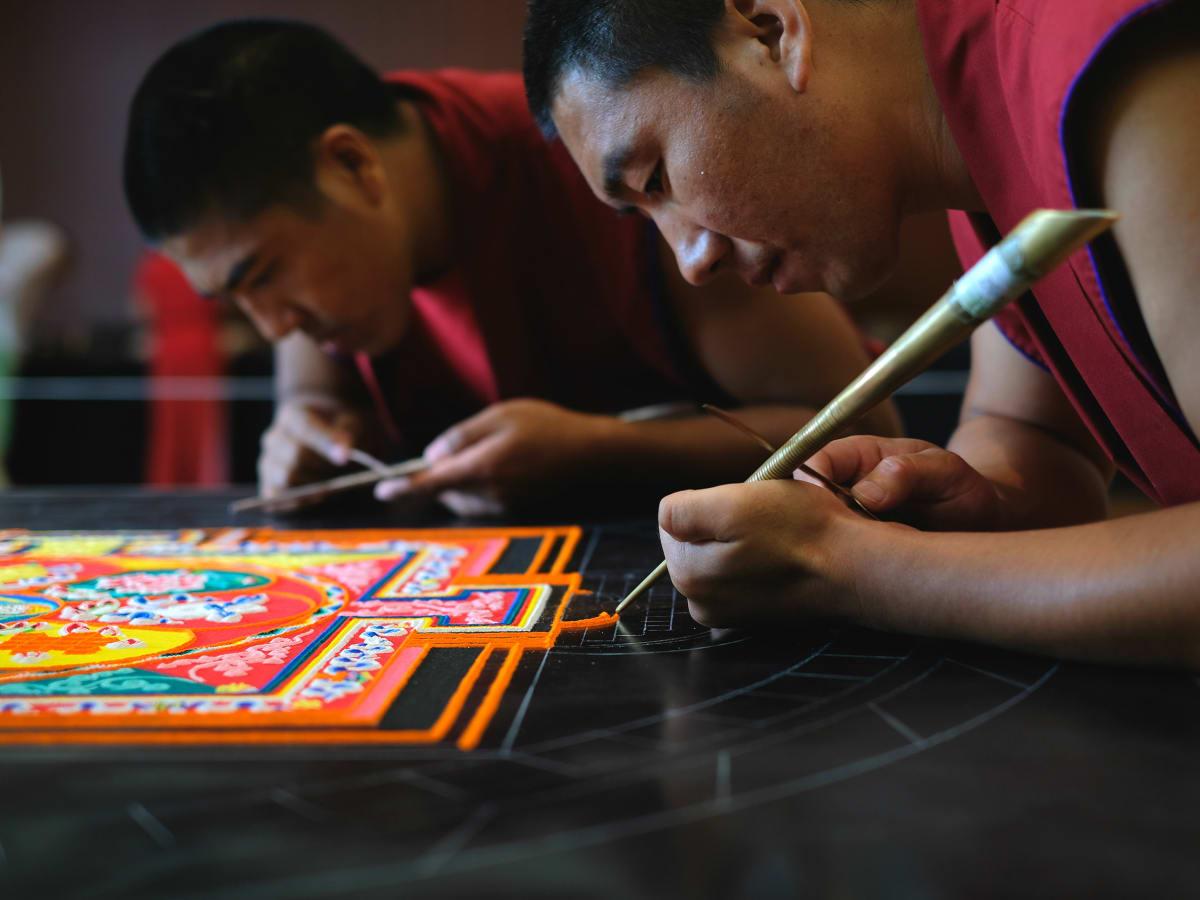 weekend events mystical arts of tibet monk mandala
