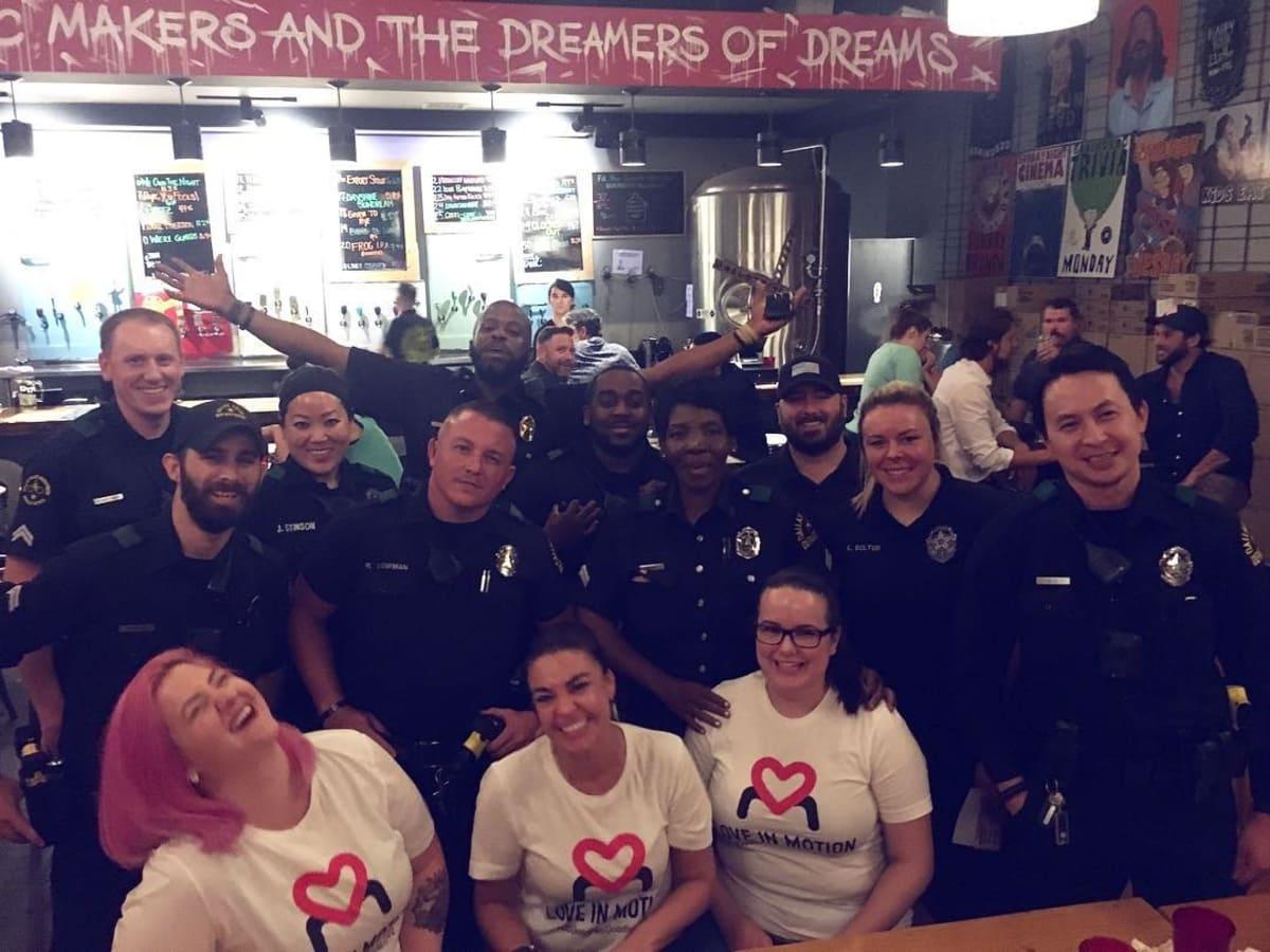 Love in Motion volunteers